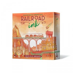 RailRoad Ink Edición Rojo Abrasador - ingenioso juego competitivo para 1-6 jugadores