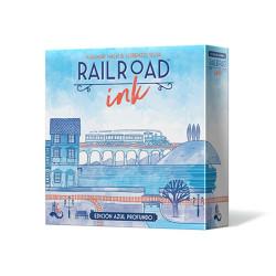 RailRoad Ink Edición Azul Profundo - ingenioso juego competitivo para 1-6 jugadores