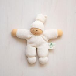 Muñeco Pimpel de algodón orgánico blanco