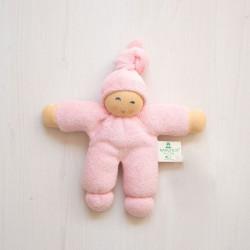 Muñeco Pimpel de algodón orgánico rosa