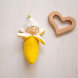 Sonajero de algodón orgánico - Plátano