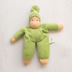 Muñeco Schmuse de algodón orgánico verde