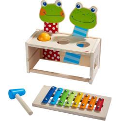 Juego banco de martillo con sonidos - Concierto de ranas