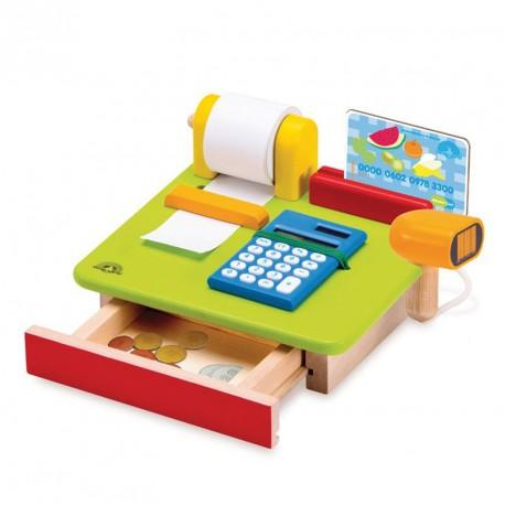 Caja registradora de madera - juego simbólico