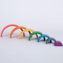 Set de arcos arquitectónico Arco Iris - 7 piezas de madera