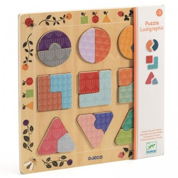 Puzzle encajable de madera Ludigraphic - 18 pzas.
