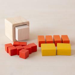Cubos de Fracciones - juego educativo de madera