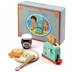 El desayuno de Aurora y Théodore - juguete de madera