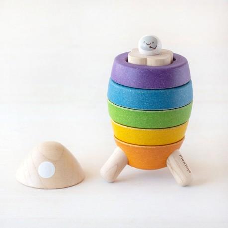 Cohete Espacial - juguete apilable de madera