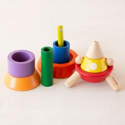 Cono Espacial - juguete apilable de madera