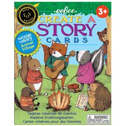 Crea una historia con cartas - El pueblo de los animales