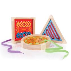 Geo Forma Cordón - juego para enlazar formas geométricas