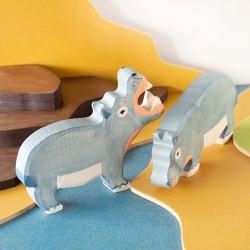 Hipopótamo - animal de madera
