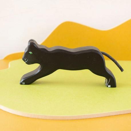 Pantera negra - animal de madera