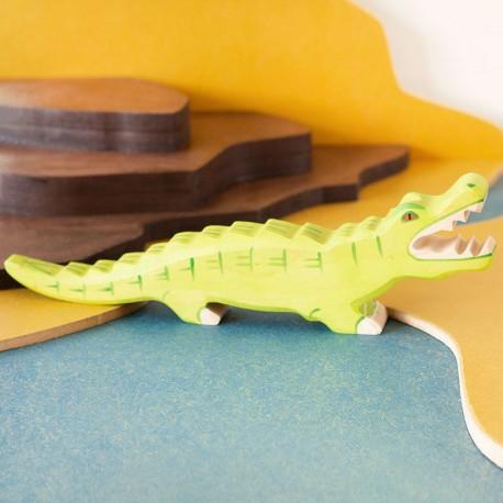 Cocodrilo Lápiz//Crayon Rollo 8 Lápices Aligator Lino Verde cumpleaños regalo de Navidad
