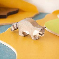 Mapache - animal de madera