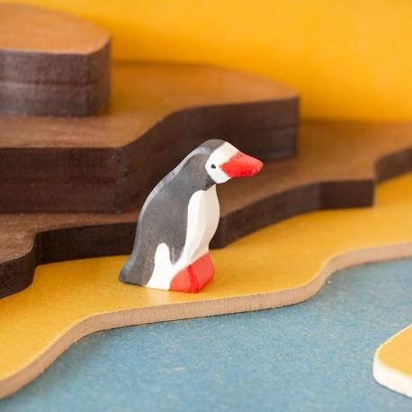 Pingüino pequeño - animal de madera