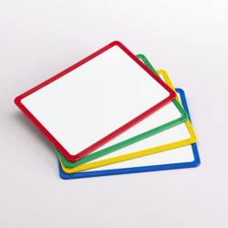 4 Pizarras magnéticas con marco de plástico en 4 colores