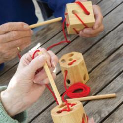 3 Bloques con formas geométricas para coser