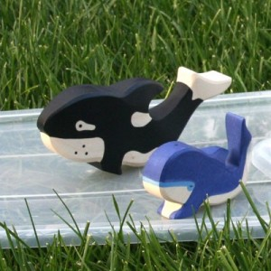 Orca - animal de madera