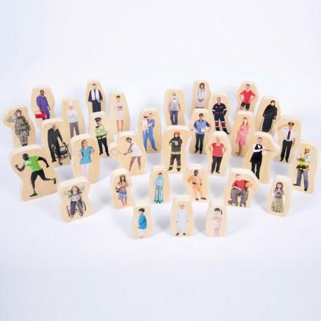 Gent de la meva Comunitat - 32 blocs de fusta de doble cara