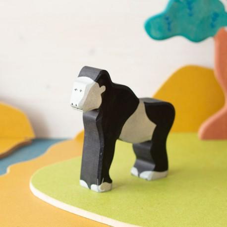 Gorila - animal de madera