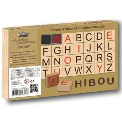 Tampones de madera - Sellos Alfabeto en Mayúsculas