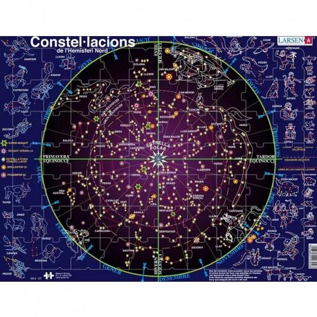 Puzle Educativo Larsen 70 piezas (Catalán)- Constel·lacions de l'hemisferi nord