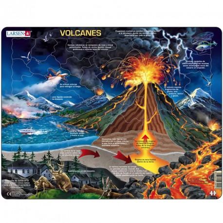 Puzle Educativo Larsen 70 piezas - Volcanes