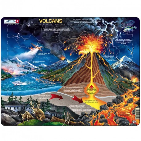 Puzle Educatiu Larsen (català) 70 peces - Volcans