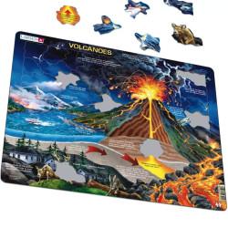 Puzle Educativo Larsen (catalán) 70 piezas - Volcans