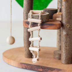 Eco Blocks - Casa del árbol para montar con bloques de madera natural con corteza