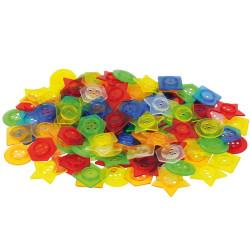 Botones translúcidos encajables para enhebrar - 144 piezas