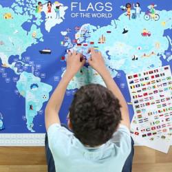 Gran Póster de pegatinas - Banderas del mundo
