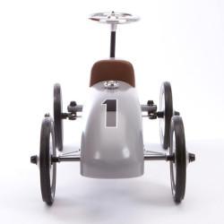 Correpasillos coche de carreras clásico - Color plata