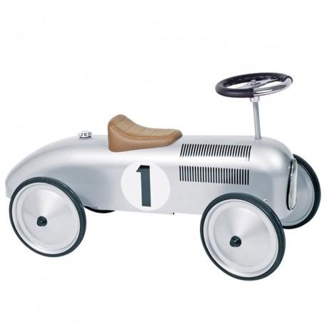 Correpasillos cotxe de carreres clàssic - Color plata
