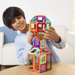 Geosmart set educativo con 100 piezas imantadas - juguete de construcción con formas geométricas
