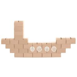 GIGI BLOKS grandes - sistema creativo de 30 bloques de construcción de cartón
