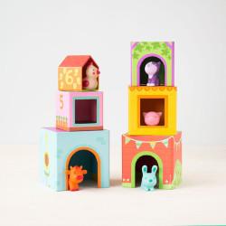 Topanifarm - Cubos apilables con animalitos