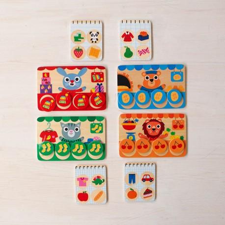 Memo Loto Botigues - joc de memoria de fusta per 1-4 jugadors