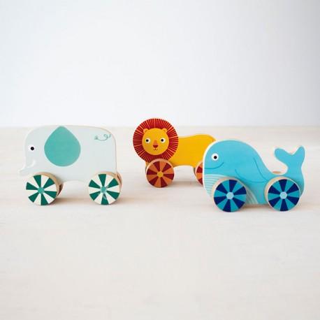 Vis'n'Roll - animals de fusta per cargolar