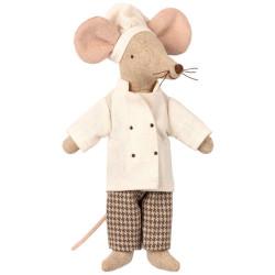 Ratón Chef con vestido de cocinero