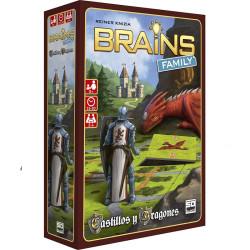 Brains: Castillos y Dragones - juego de lógica familiar para 2-4 jugadores