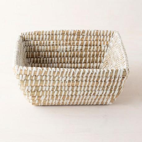 Cistella artesanal de jute quadrada