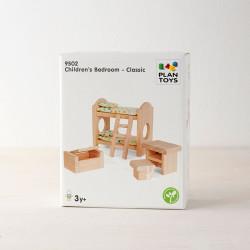 Habitación Infantil Clásica de madera para casa de muñecas