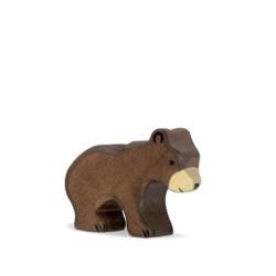 Oso Pardo pequeño - animal de madera