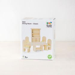 Comedor Clásico de madera para casa de muñecas