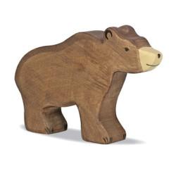 Oso  Pardo - animal de madera