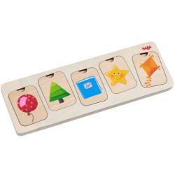 Puzzle de madera para encajar - Colores y Figuras