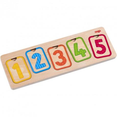 Puzle de fusta per a encaixar - Els Primers Números